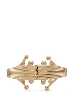 模特示范图 - 点击放大 - LULU FROST - ALESIA枝叶造型淡水珍珠手镯