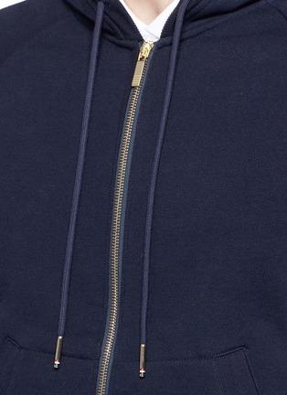 细节 - 点击放大 - THOM BROWNE - 条纹纯棉连帽卫衣