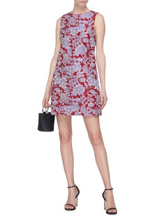 alice + olivia Coley花卉提花无袖连衣裙