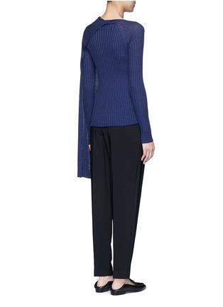 背面 - 点击放大 - The Row - INGA围脖布带羊毛混丝针织衫