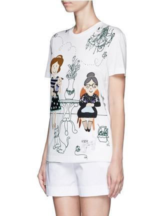 正面 - 点击放大 - DOLCE & GABBANA - 家庭刺绣拼贴图案T恤
