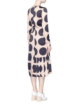 背面 - 点击放大 - STELLA MCCARTNEY - 碎褶装饰波点真丝连衣裙