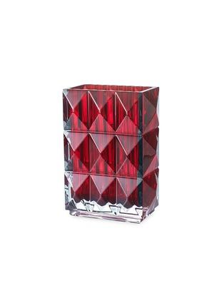 首图 –点击放大 - BACCARAT - LOUXOR立体菱形切割水晶花瓶(红色)-20cm
