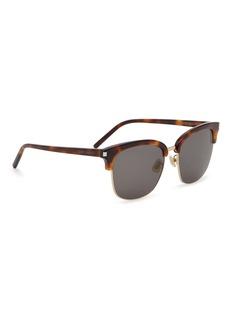 SAINT LAURENT 玳帽板材顶框太阳眼镜