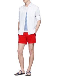 VILEBREQUIN Caroubis纯色亚麻衬衫