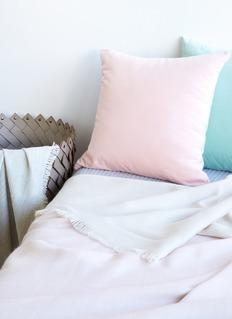LANE CRAWFORD 小羊驼毛薄毯-淡粉色