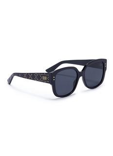 DIOR LadyDior铆钉方框太阳眼镜