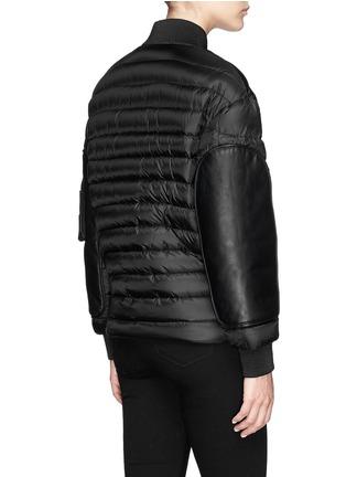 背面 - 点击放大 - MONCLER - 真皮拼贴羽绒夹克