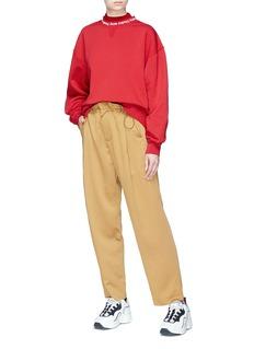 ACNE STUDIOS Yana品牌名称衣领纯棉卫衣
