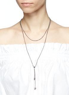 Alexander McQueen 仿水晶点缀骷髅头双层项链