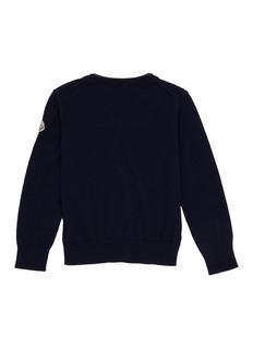 Moncler 儿童款拼接设计初剪羊毛针织衫