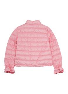 Moncler Nadege儿童款荷叶边袖口绗缝羽绒夹克