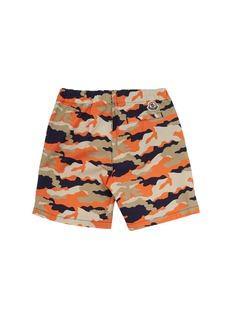 Moncler Pantalone儿童款迷彩百慕大短裤
