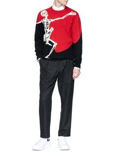 Alexander McQueen 骷髅图案羊毛混羊绒针织衫
