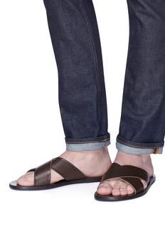 ANCIENT GREEK SANDALS Kritonas交叉搭带真皮凉鞋