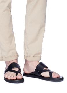 ANCIENT GREEK SANDALS Zinon多重搭带真皮凉鞋