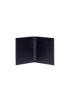 Alexander McQueen 品牌名称荔枝纹小牛皮折叠钱包