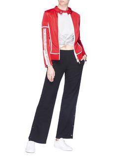 Moncler Maglia品牌名称刺绣条纹外套