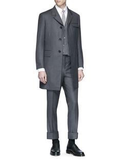 THOM BROWNE 羊毛斜纹布西服长裤