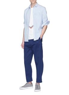 Moncler V形条纹纯棉T恤