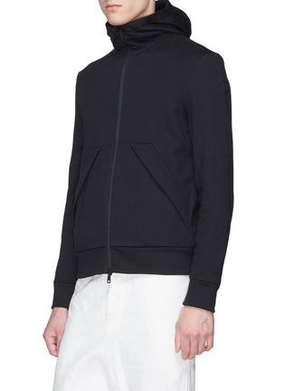 细节 - 点击放大 - MONCLER - 三色条纹布饰纯棉连帽外套