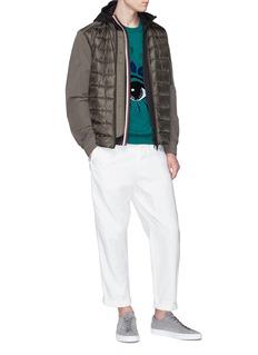 Moncler 三色条纹布饰纯棉连帽外套