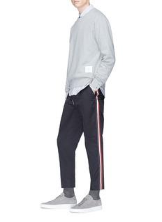 Moncler 三色侧条纹抽绳斜纹布长裤