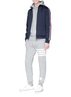 Moncler 品牌名称侧条纹夹克
