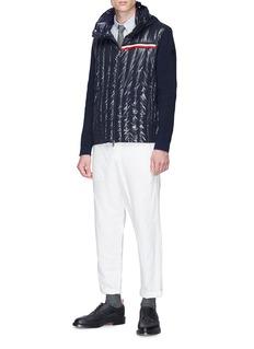 Moncler Gardon绗缝羽绒拼接连帽针织外套