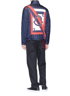 Moncler x Craig Green Lasalle拼色标志防水绗缝羽绒夹克