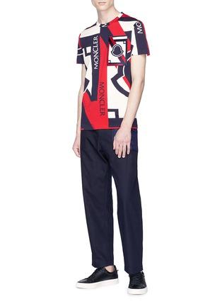 模特示范图 - 点击放大 - MONCLER - x Craig Green绗缝拼接纯棉长裤