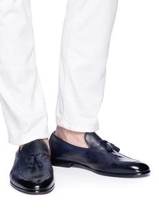 Doucal's Pana流苏装饰真皮乐福鞋