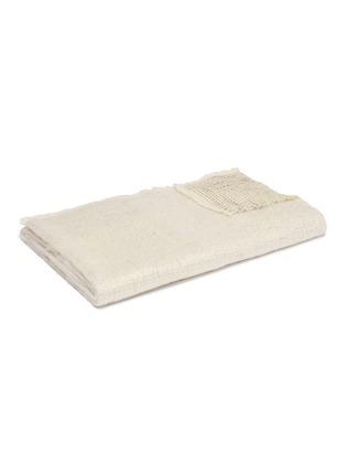 首图 –点击放大 - L'OBJET - Seville羊毛混马海毛毛毯-象牙白色