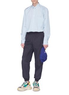 BALENCIAGA 品牌名称三段式拉链直脚运动裤
