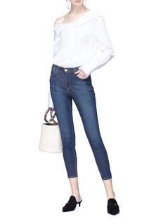 L'AGENCE Margot高腰修身露踝牛仔裤