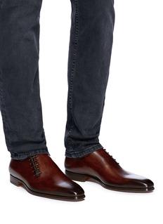 MAGNANNI 侧系带点缀真皮牛津鞋