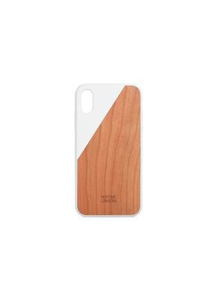 首图 –点击放大 - NATIVE UNION - CLIC Wooden樱桃木手机壳(白色)-iPhone X