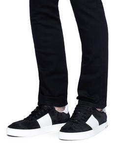Valentino Flycrew小牛皮拼接绒面真皮铆钉运动鞋