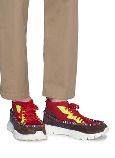 Valentino Heroes Tribe真皮拼接针织运动鞋
