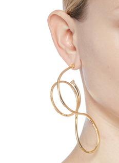BALENCIAGA 皮筋造型镀金黄铜耳环