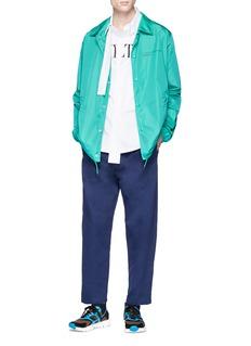 VALENTINO 布饰点缀品牌名称缩写纯棉衬衫