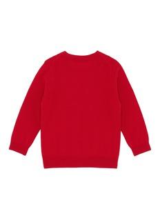 ACNE STUDIOS Mini Nalon儿童款方脸徽章羊毛针织衫