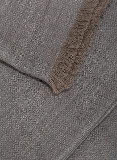 OYUNA Saan人字纹羊绒毯-灰色及灰褐色