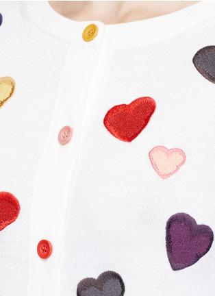 细节 - 点击放大 - alice + olivia - LARI心形刺绣羊毛针织外套