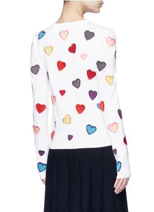 背面 - 点击放大 - alice + olivia - LARI心形刺绣羊毛针织外套