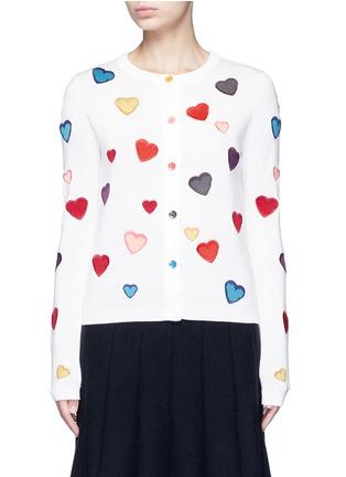 首图 - 点击放大 - alice + olivia - LARI心形刺绣羊毛针织外套