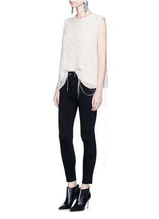 模特儿示范图 - 点击放大 - L'AGENCE - THE MARGOT弹力七分长裤