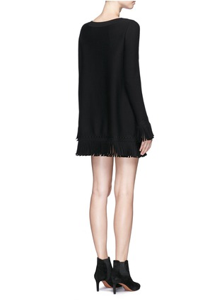 背面 - 点击放大 - ALAÏA - Sparte流苏装饰单色混羊毛连衣裙