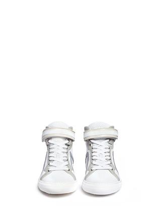 正面 - 点击放大 - PIERRE HARDY - 网眼牛皮拼色高筒运动鞋