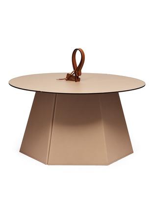 首图 –点击放大 - Pinetti - Liverpool矮版可折叠式小牛皮圆桌-灰褐色